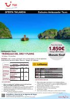Catálogo TUI  Viajes Especial ULTIMAS PLAZAS 2017 - Page 5