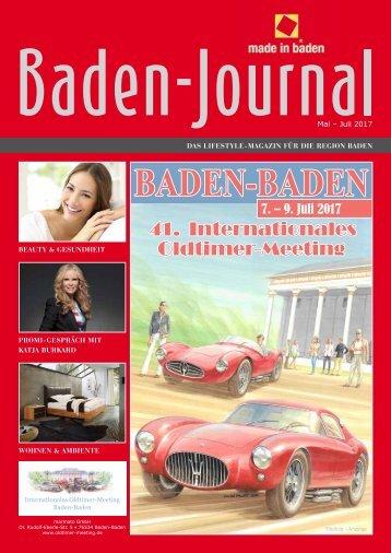 Baden-Journal Mai - Juli 2017