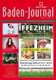 Baden-Journal August - Oktober 2017