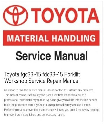 Service procedures brake toyota fgc33 45 fdc33 45 forklift workshop service repair manual fandeluxe Images