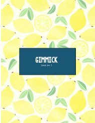 GIMMICK MAGAZINE ISSUE NO.1