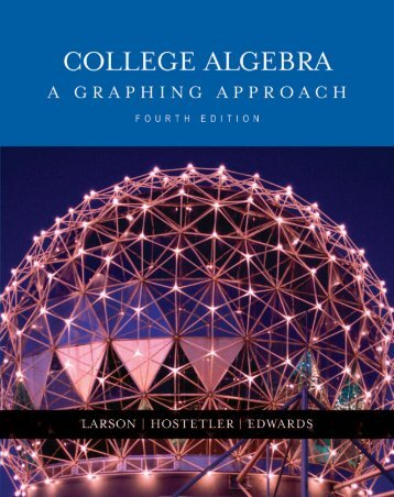 College Algebra- A Graphing Approach  2004