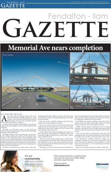 Fendalton Gazette: September 6, 2017