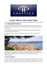 Luxury Villa For Sale In Saint Tropez