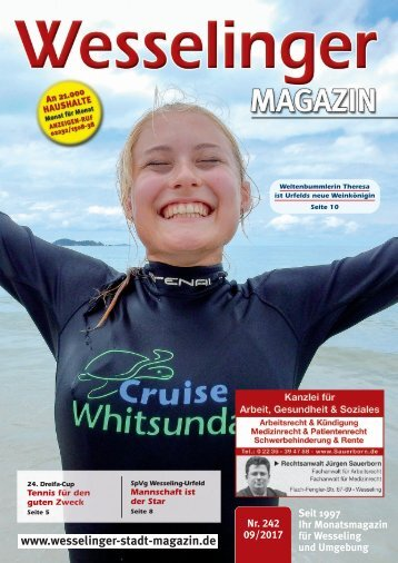 Wesselinger Stadt Magazin September 2017