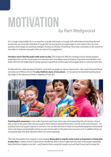 Motivation by Pam Wedgwood