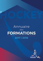 Annuaire des Formations 2017-2018