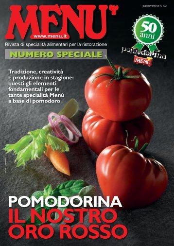 MENU Speciale Pomodorina - Settembre 2017