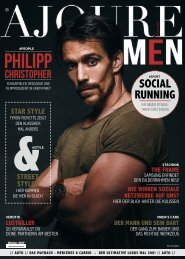 AJOURE´ Men Magazin Oktober 2017