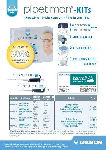 Bartelt Pipetman KIT-Angebot