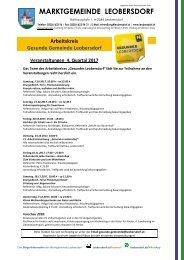 Postwurf Oktober / Marktgemeinde Leobersdorf