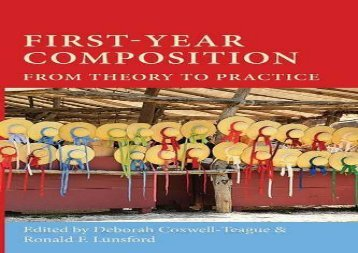 FirstYear-Composition-From-Theory-to-Practice-Lauer-Series-in-Rhetoric-and-Composition
