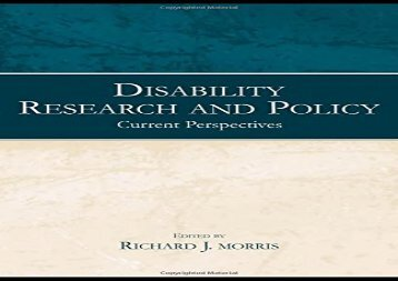 Disability-Research-and-Policy-Current-Perspectives