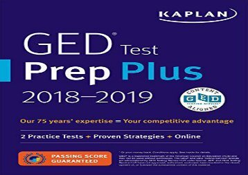 GED-Test-Prep-Plus-2018-2-Practice-Tests--Proven-Strategies--Online-Kaplan-Test-Prep