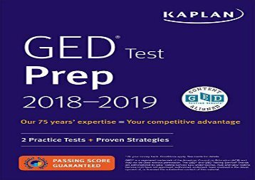 E book act prep plus 2018 5 practice tests proven strategies ged test prep 2018 2 practice tests proven fandeluxe Images