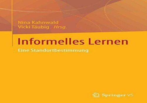 Informelles-Lernen-Standortbestimmungen-German-Edition