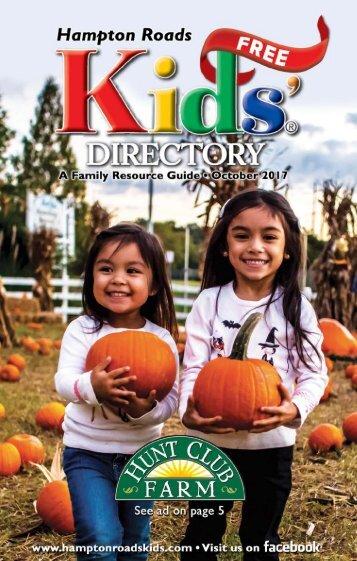 Hampton Roads Kids' Directory: October 2017 Issue