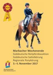 Auktionskatalog Marbacher Wochenende 2017