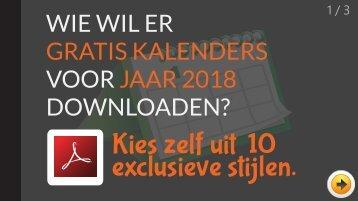 Wie wil er gratis kalenders (jaar 2018) downloaden en printen?