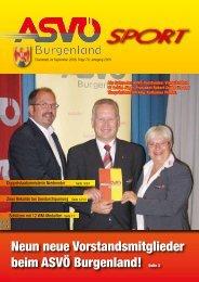 Neun neue Vorstandsmitglieder beim ASVÖ Burgenland! Seite 3