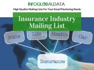 Insurance Industry Mailing List