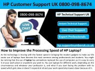 How to Improve the Processing Speed of HP Laptop?