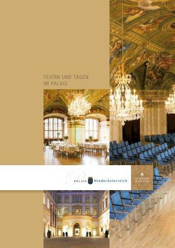 Factsheet Palais-Niederoesterreich
