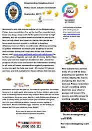 Alysbury Autumn news letter completed