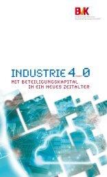 Industrie 4.0 - Mit Beteiligungskapital in ein neues Zeitalter