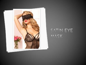 Cassinovas Satin Eye Mask