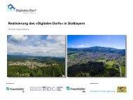 Realisierung des digitalen Dorfs in Bayern