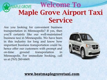 Eco-Friendly Taxi Service in Minneapolis
