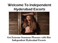 Welcome To Independent Hyderabad Escorts