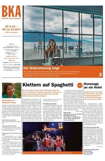 Berner Kulturagenda 2017 N° 39
