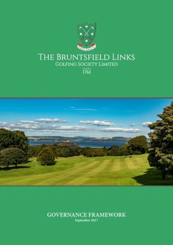 The Bruntsfield Links Governance Framework 2017