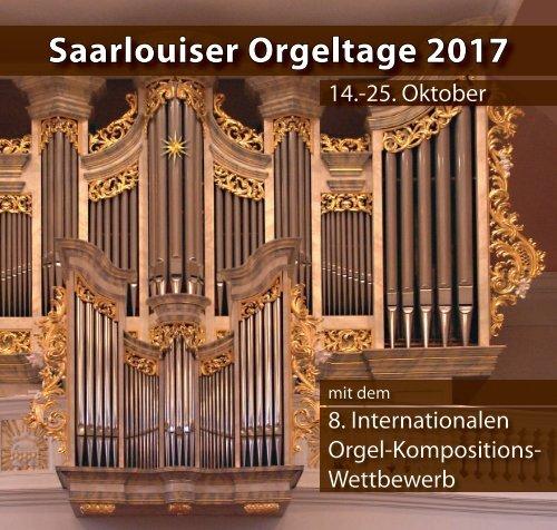 Festivalbuch Saarlouiser Orgeltage 2017