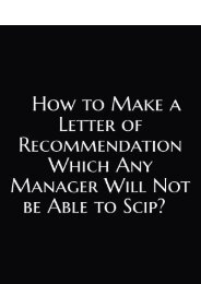 How to Make a Letter of Recommendation Which Any Manager Will Not be Able to Scip?