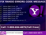 1-800-604-4875 How to Fix Yahoo Mail Error Codes Messages Online