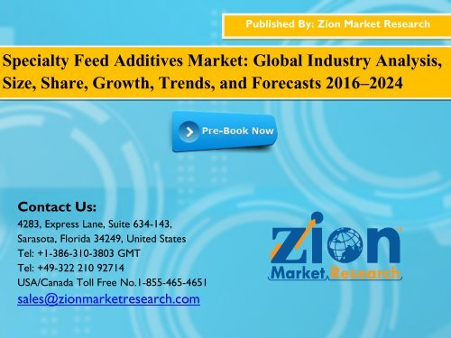 Specialty Feed Additives Market