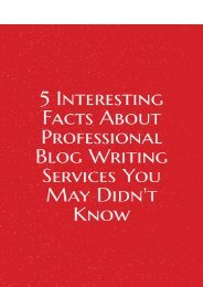 5 Interesting Facts About Professional Blog Writing Services You May Didn't Know