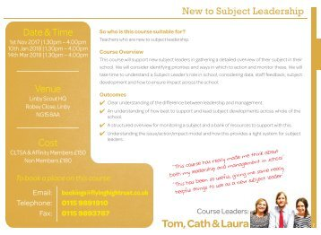 New to Subject Leadership