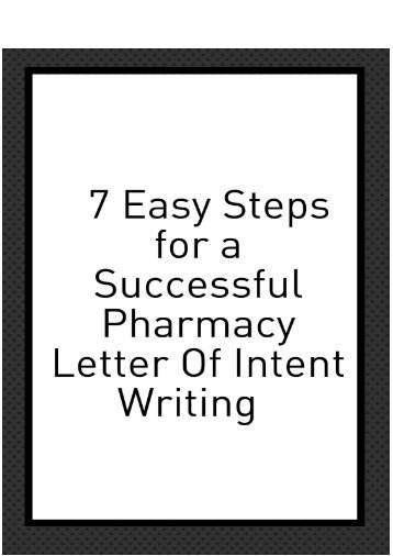Professional Pearls For Writing A Pharmacy Residency Letter Of Intent