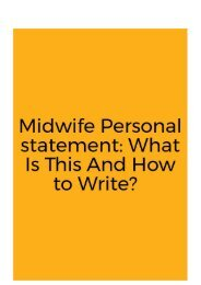 Midwife Personal Statement: What Is This And How to Write?