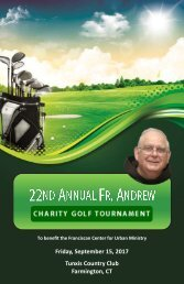 2017 Fr Andrew Charity Golf Tournament Program Book