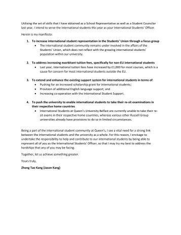 Election Manifesto