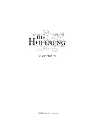 The HOPE Study Guide (GERMAN)