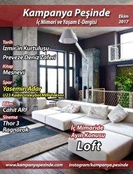Kampanya Peşinde İç Mimari ve Yaşam E-Dergisi Ekim Loft