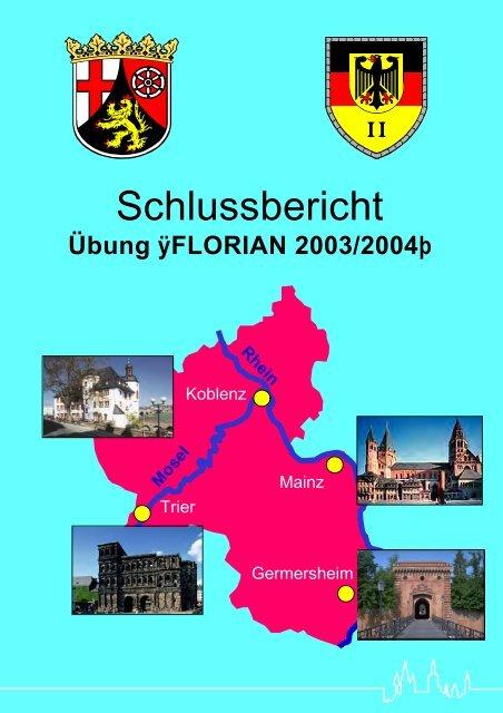 """Übung """"FLORIAN 2003/2004"""" - beim Ministerium des Innern,für ..."""