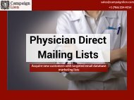 Physician Direct Mailing Lists