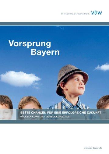Vorsprung Bayern - Vereinigung der Bayerischen Wirtschaft